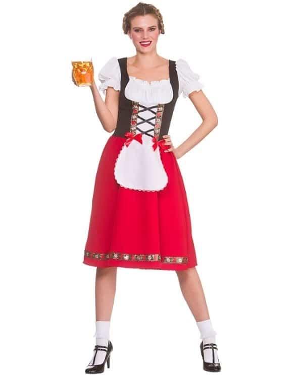 Womens Traditional Bavarian Oktoberfest Costume Small