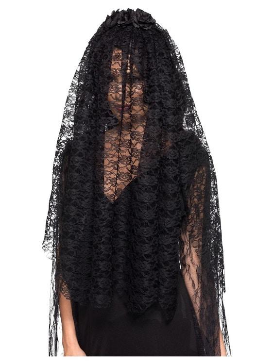 Black Widow Wedding Veil